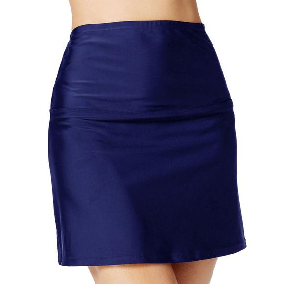 ed19ce47c8 Macy's High Waist Skirted Bikini Bottom Swim Skirt. NWT. Island Escape